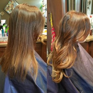 One of the many different hair extensions by Transformations Sylvania Hair renewal studio