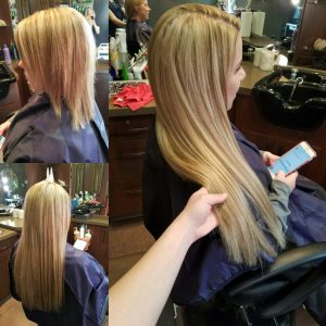 hair extensions by Transformations Sylvania Hair renewal studio in downtown Sylvania Ohio